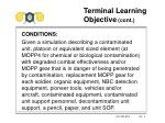 terminal learning objective cont