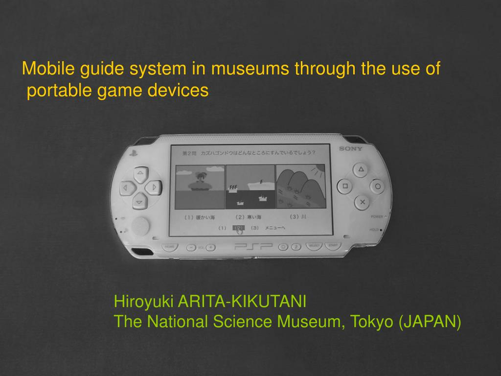 Mobile guide system in museums through the use of