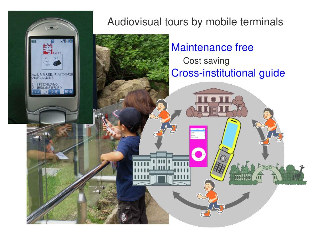 Audiovisual tours by mobile terminals