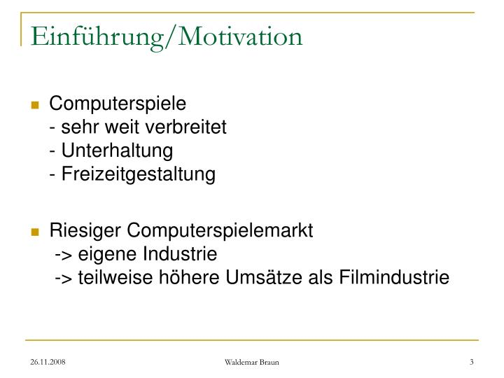 Einf hrung motivation