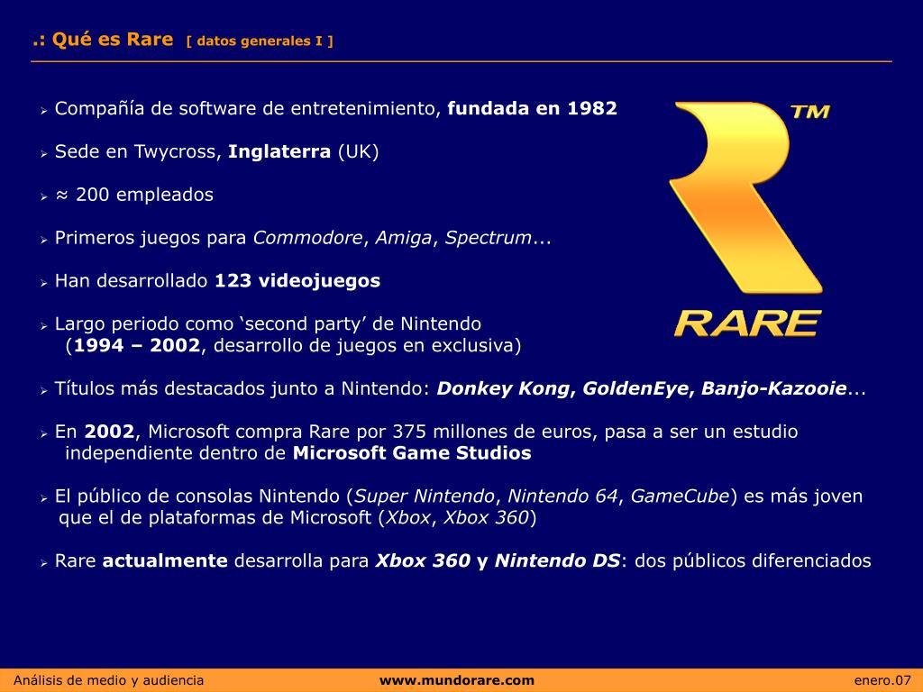 .: Qué es Rare