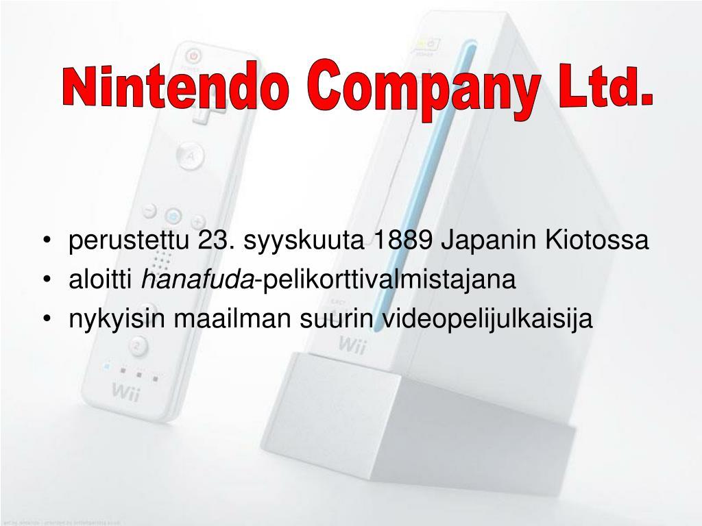 Nintendo Company Ltd.