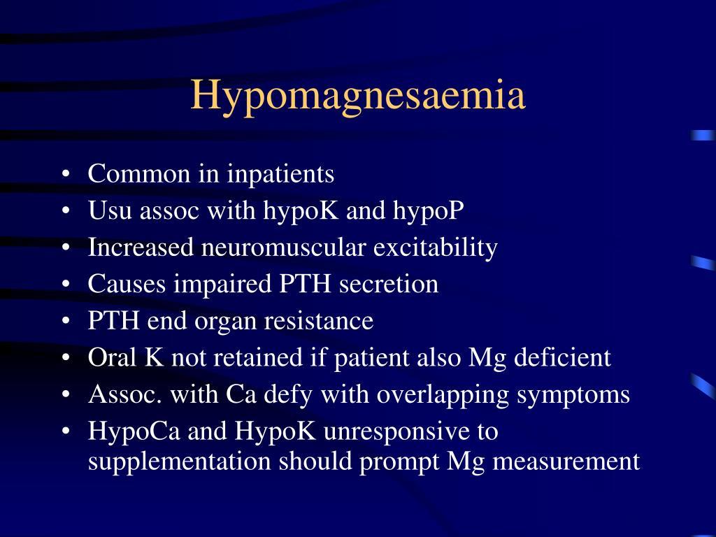 Hypomagnesaemia