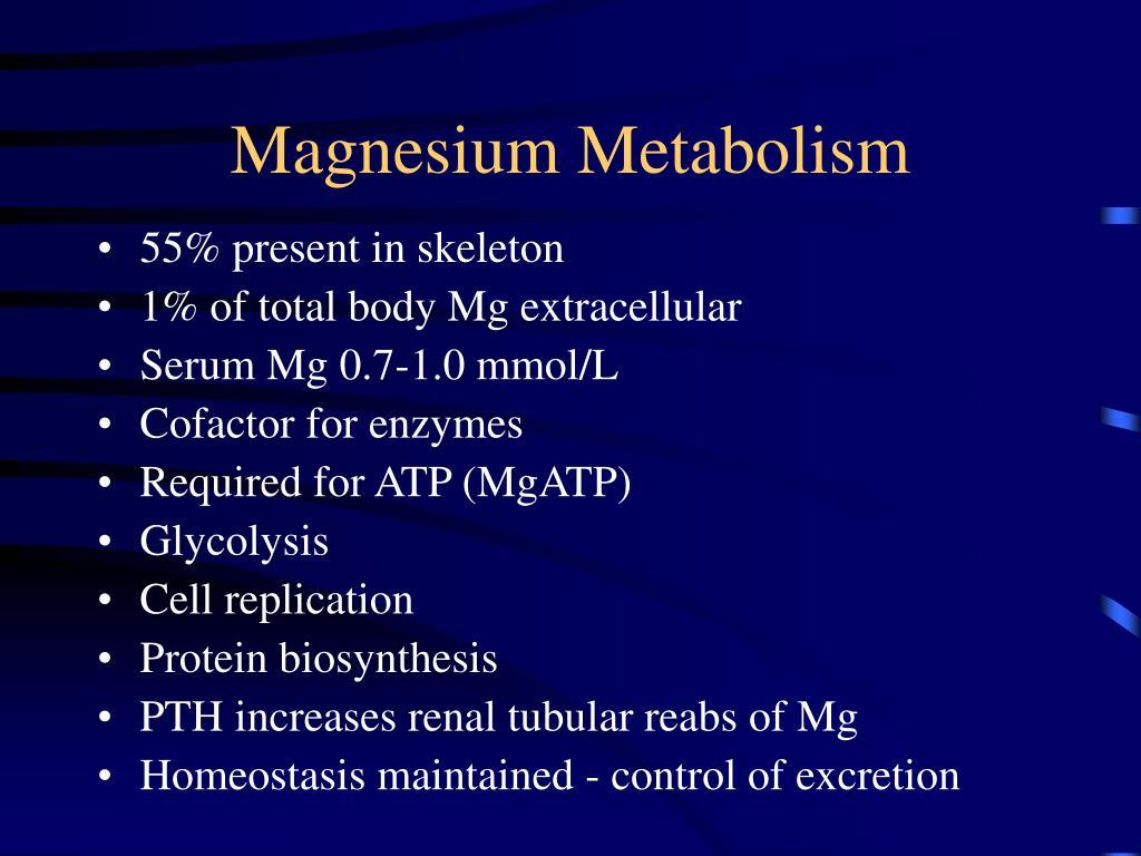 Magnesium Metabolism