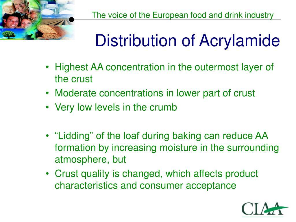 Distribution of Acrylamide