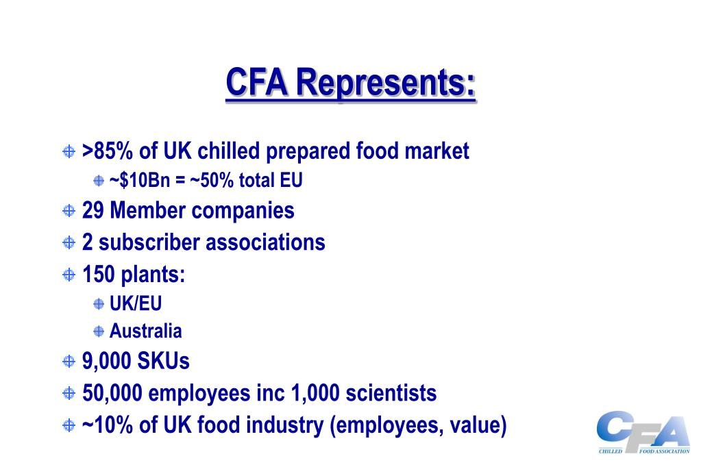 CFA Represents: