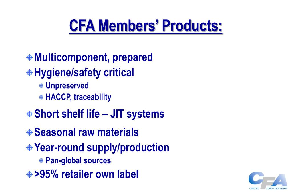CFA Members' Products: