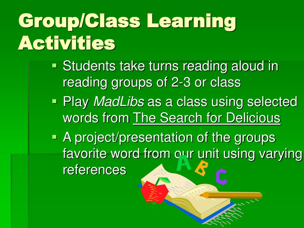 Group/Class Learning Activities