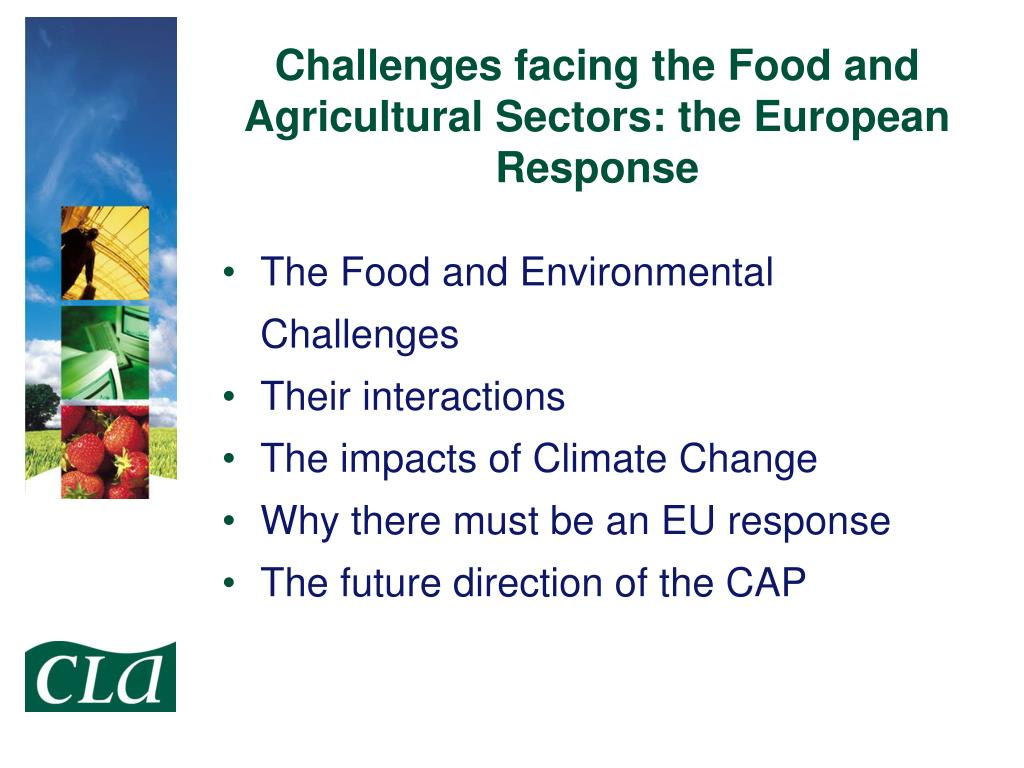 Challenges facing the Food and Agricultural Sectors: the European Response