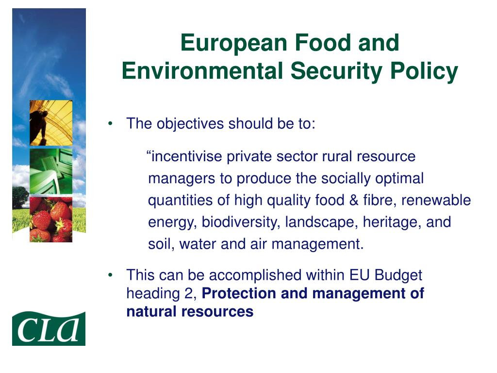 European Food and Environmental Security Policy