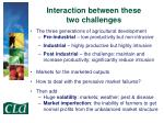 interaction between these two challenges