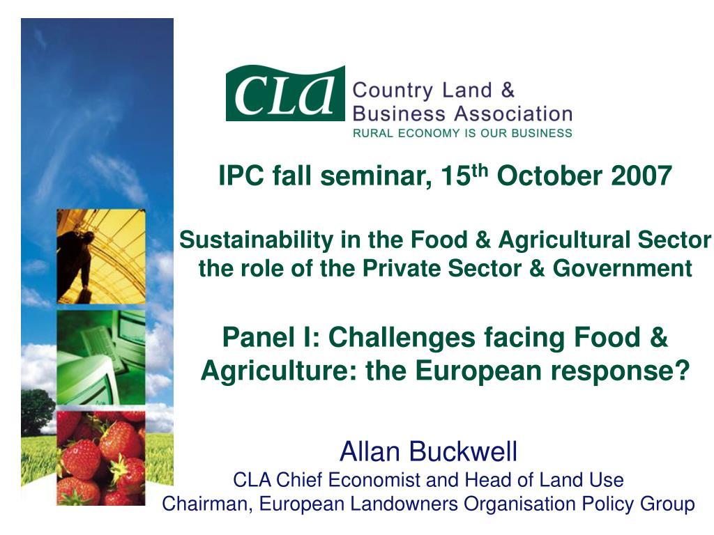 IPC fall seminar, 15