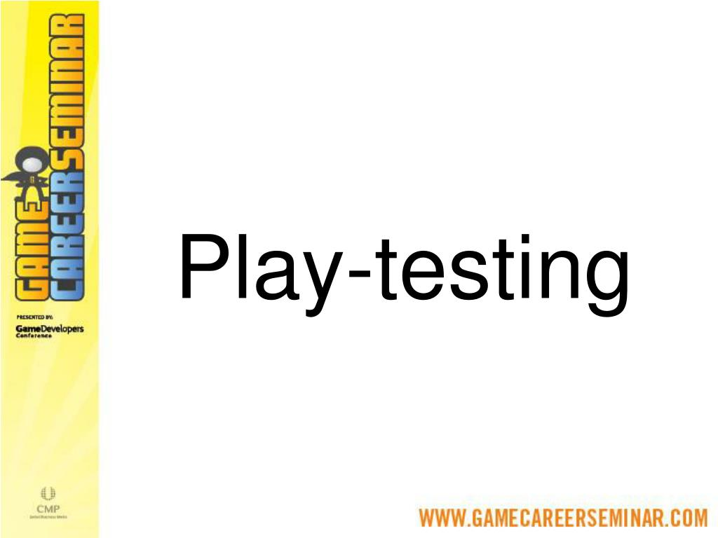 Play-testing