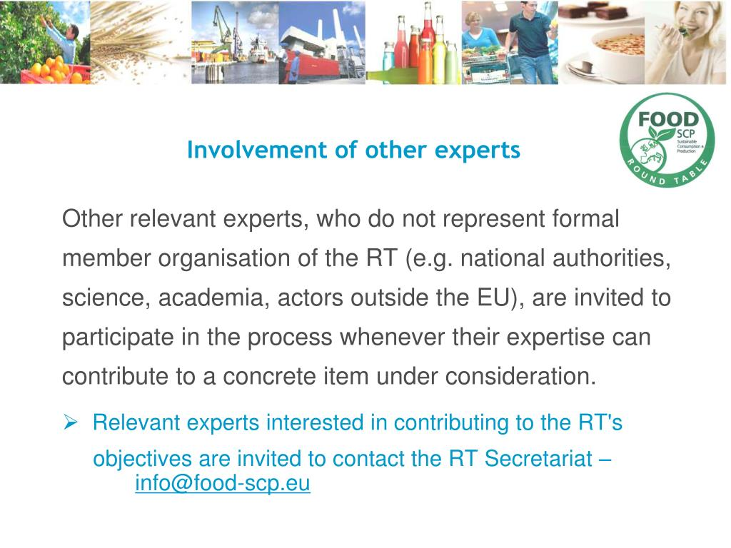 Involvement of other experts