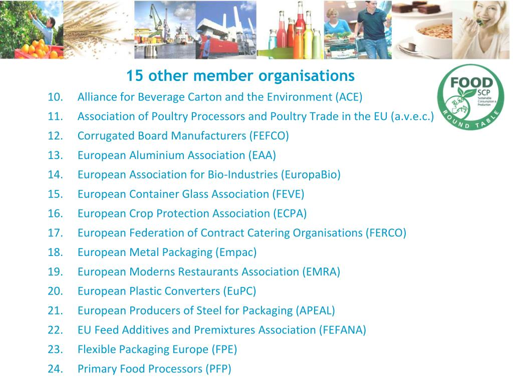 15 other member organisations