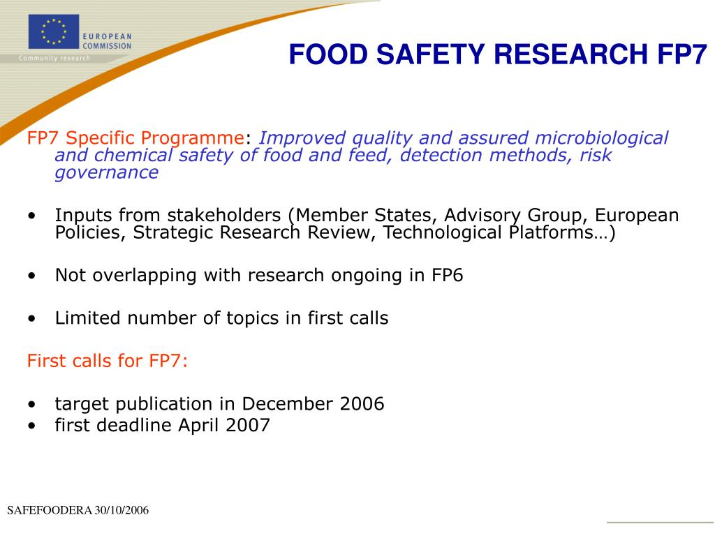 FOOD SAFETY RESEARCH FP7