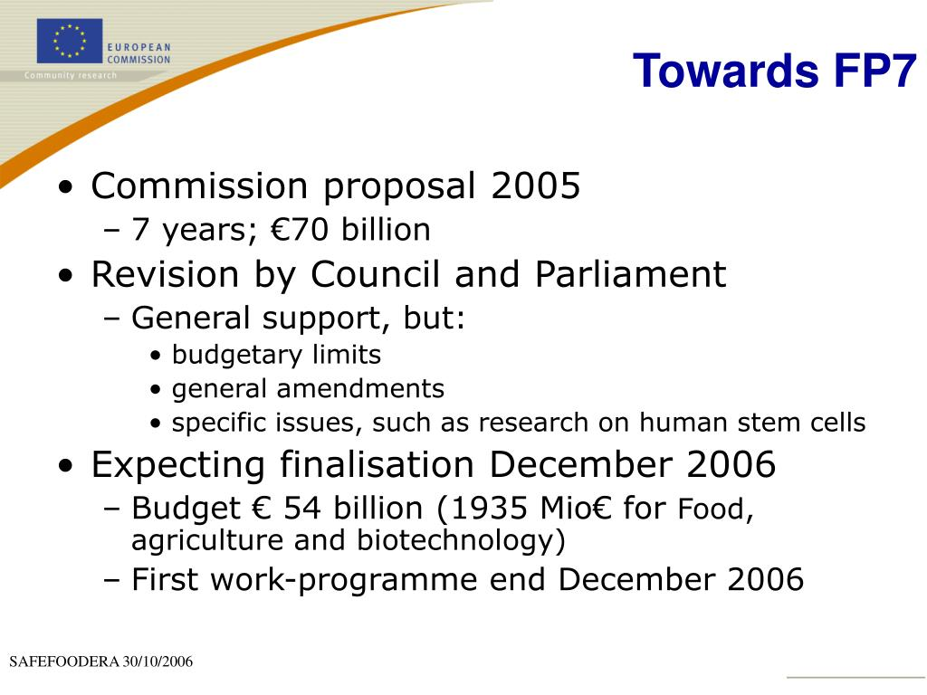 Commission proposal 2005