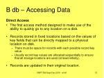 b db accessing data12