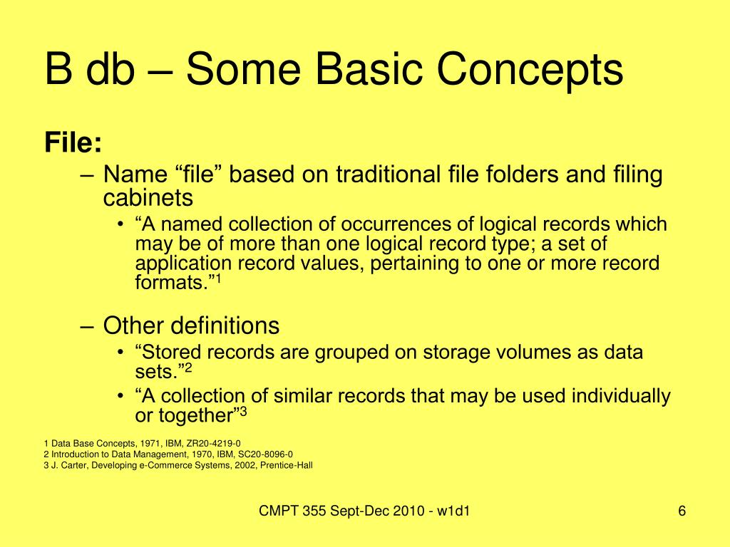 B db – Some Basic Concepts