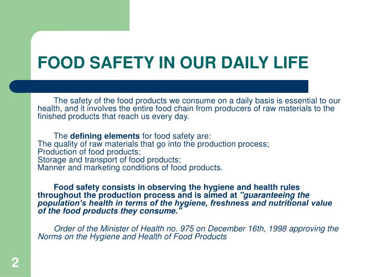 Food safety in our daily life2