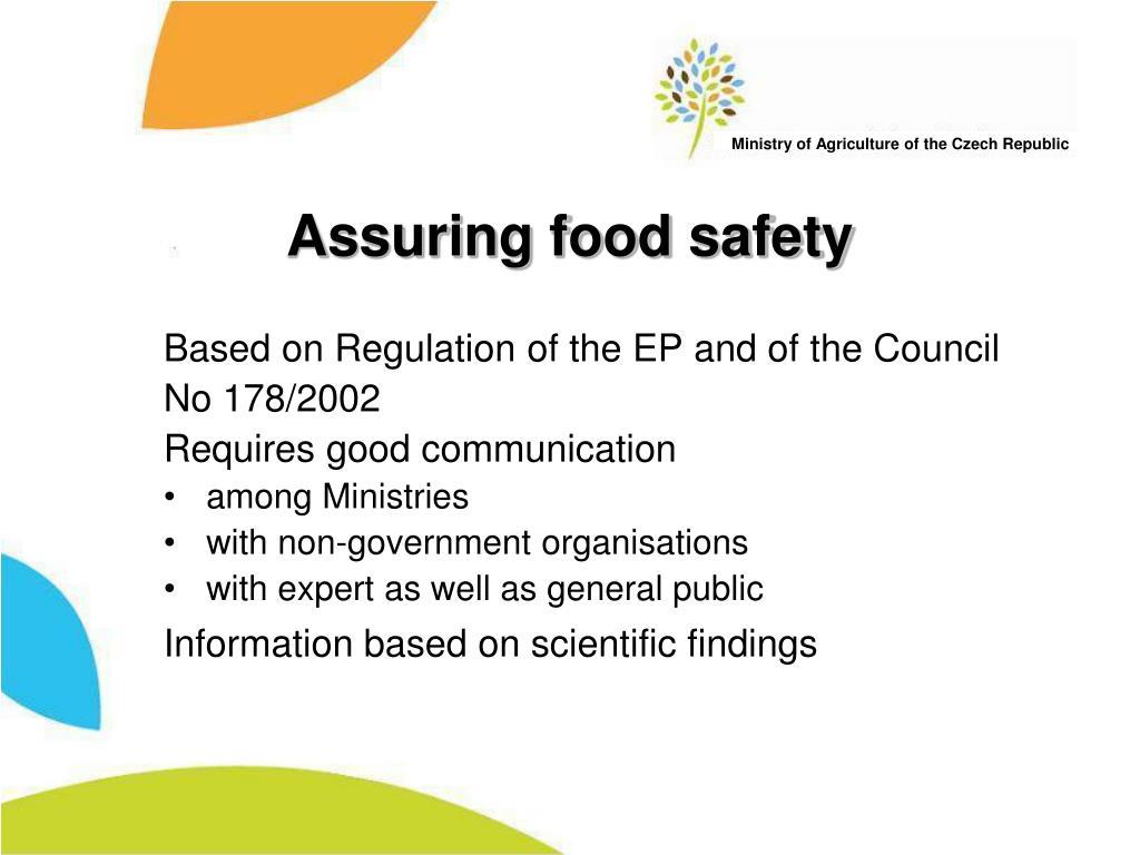Assuring food safety