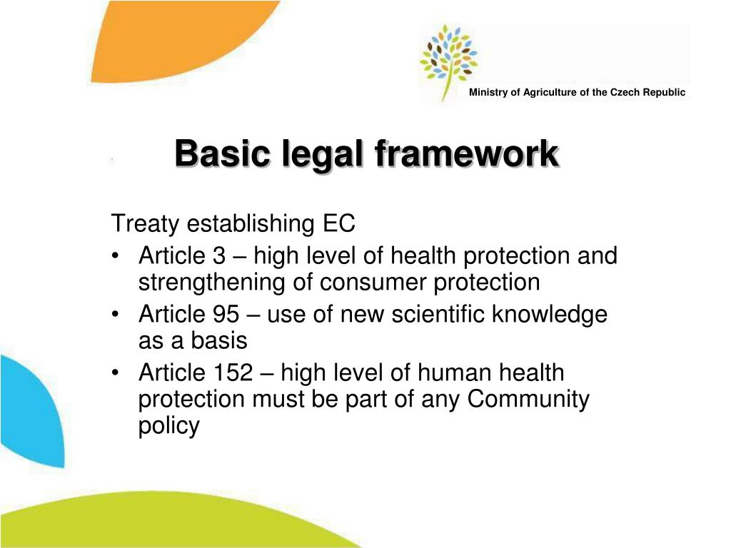 Basic legal framework