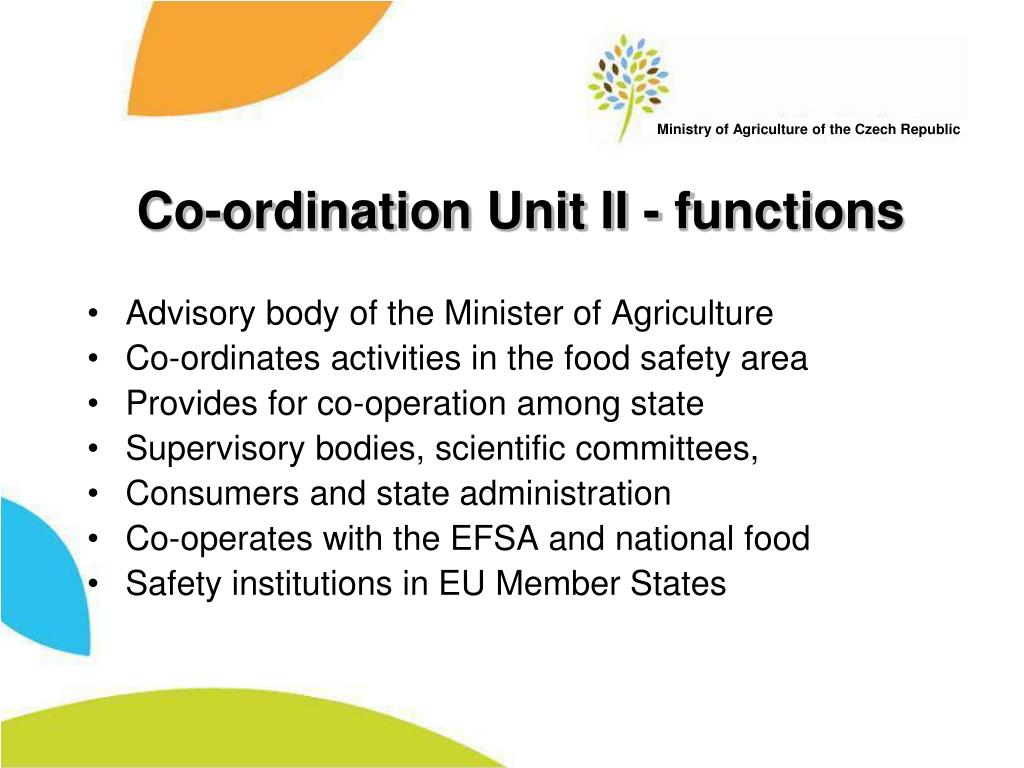 Co-ordination Unit II - functions