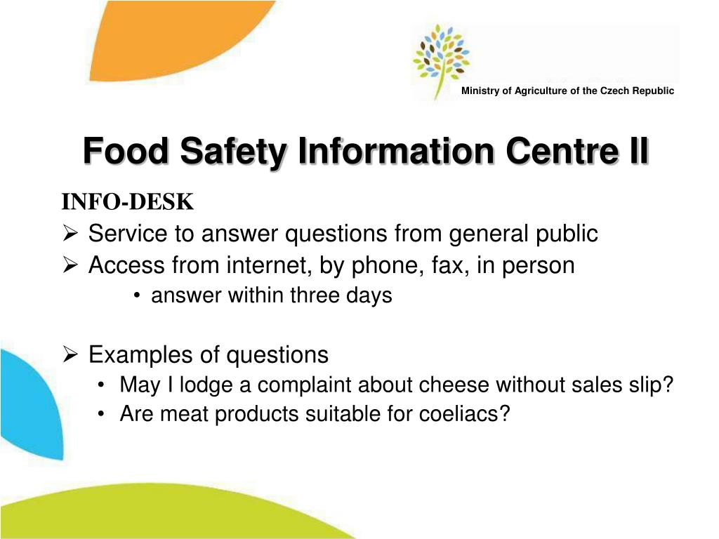 Food Safety Information Centre II