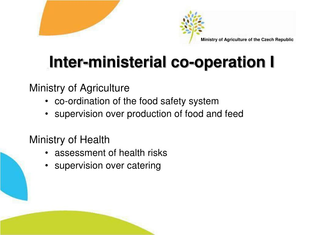 Inter-ministerial co-operation I