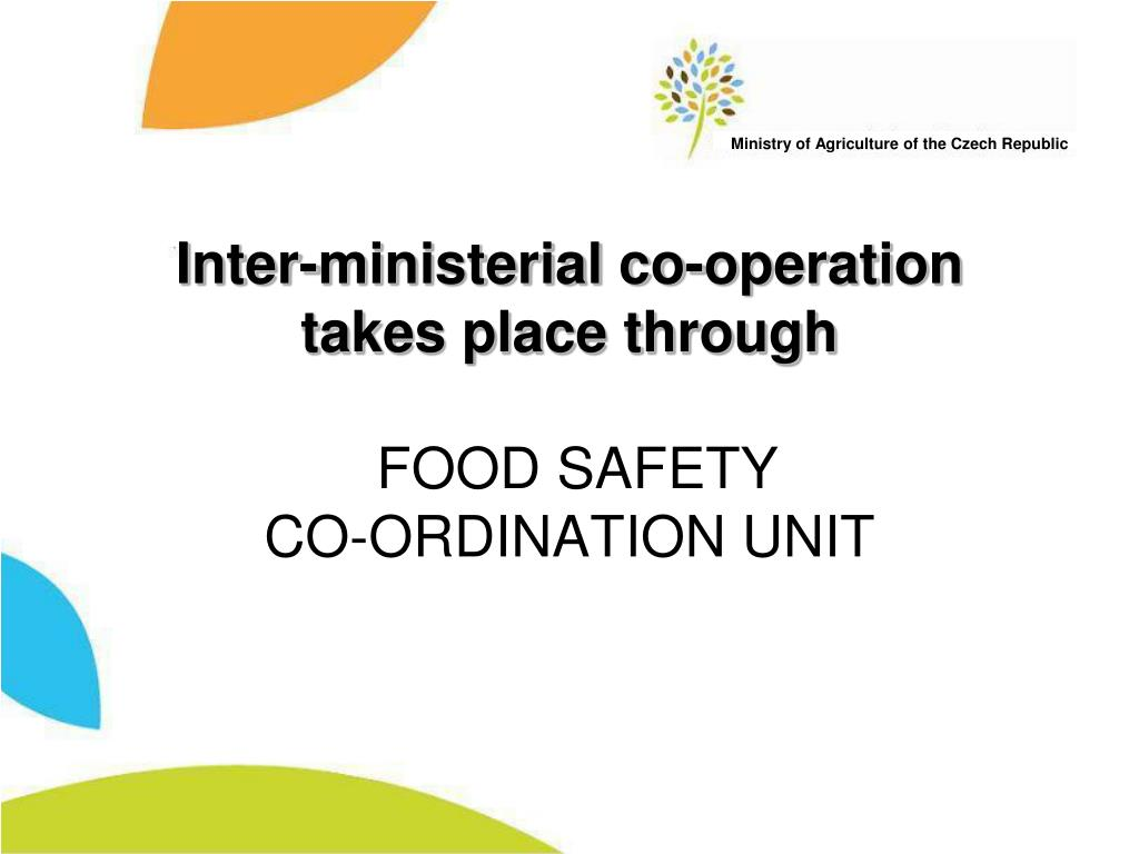 Inter-ministerial co-operation takes place through