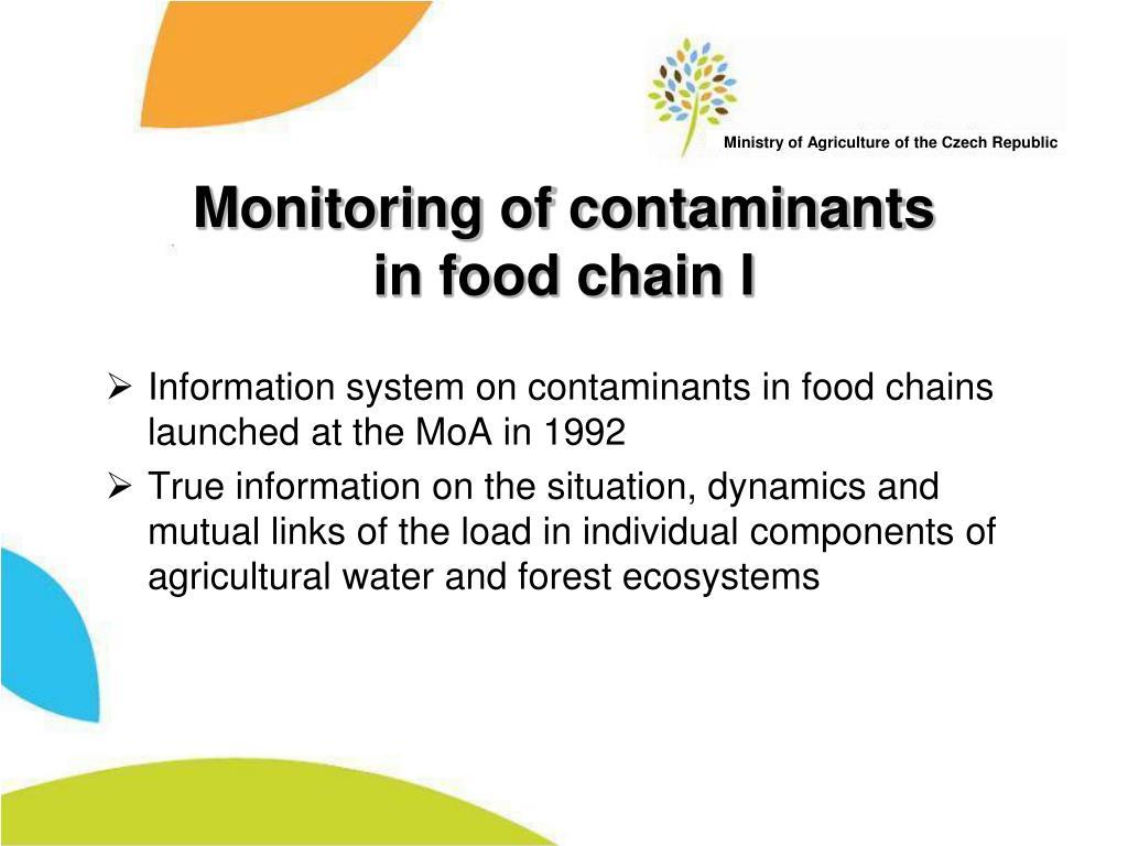 Monitoring of contaminants