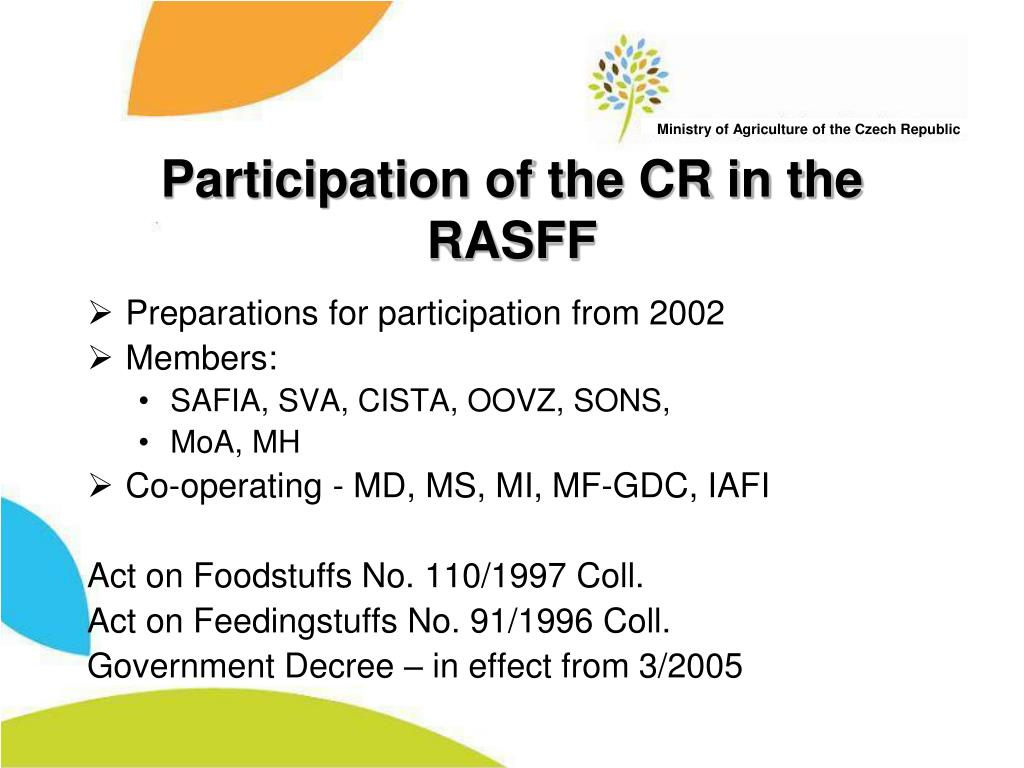 Participation of the CR in the RASFF
