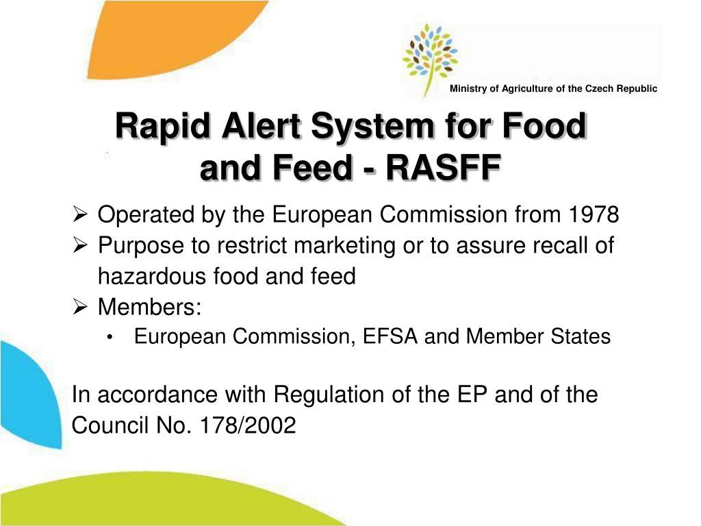 Rapid Alert System for Food