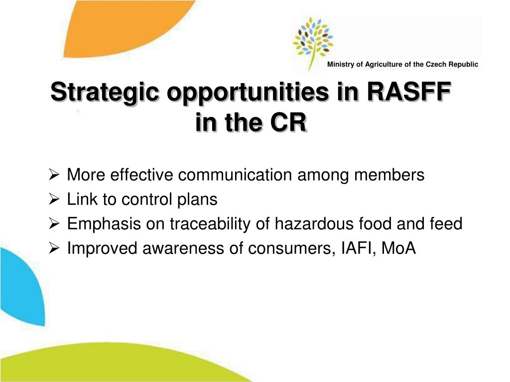 Strategic opportunities in RASFF in the CR