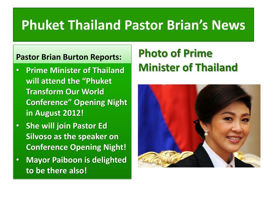 Phuket Thailand Pastor Brian's News