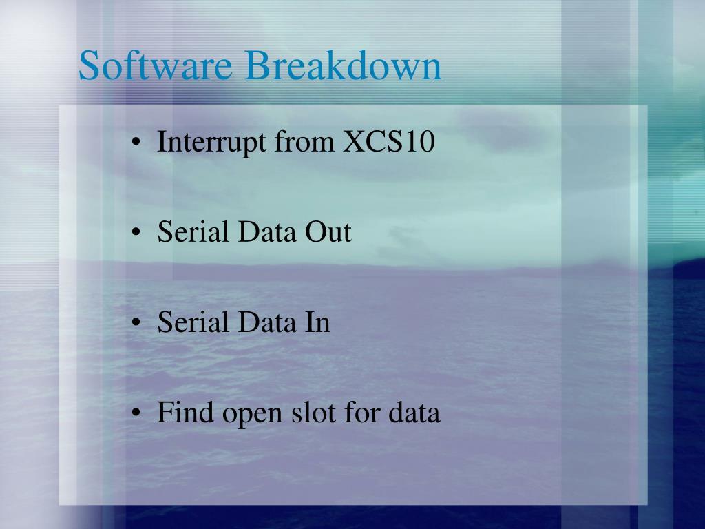 Software Breakdown