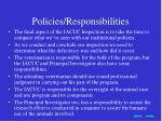 policies responsibilities
