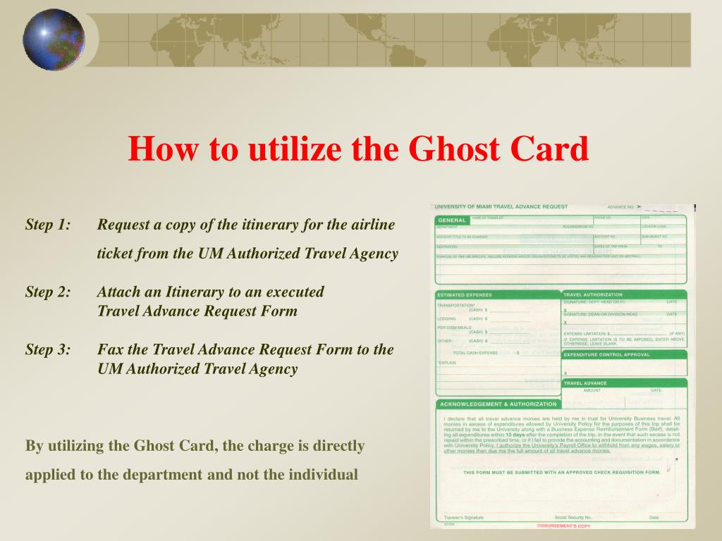 How to utilize the Ghost Card