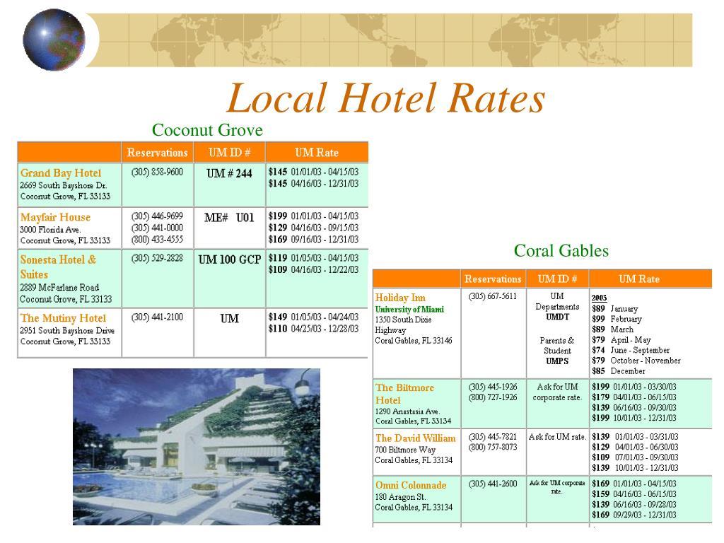 Local Hotel Rates
