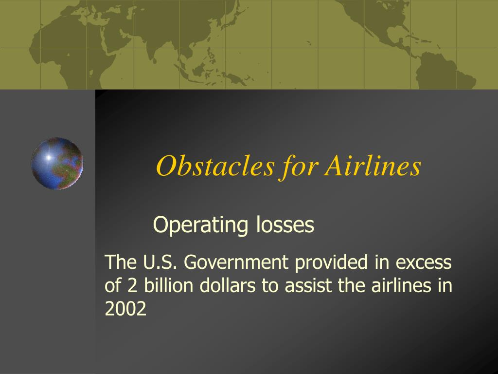 Obstacles for Airlines