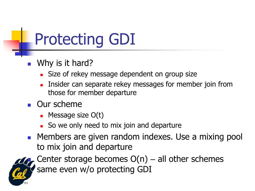 Protecting GDI