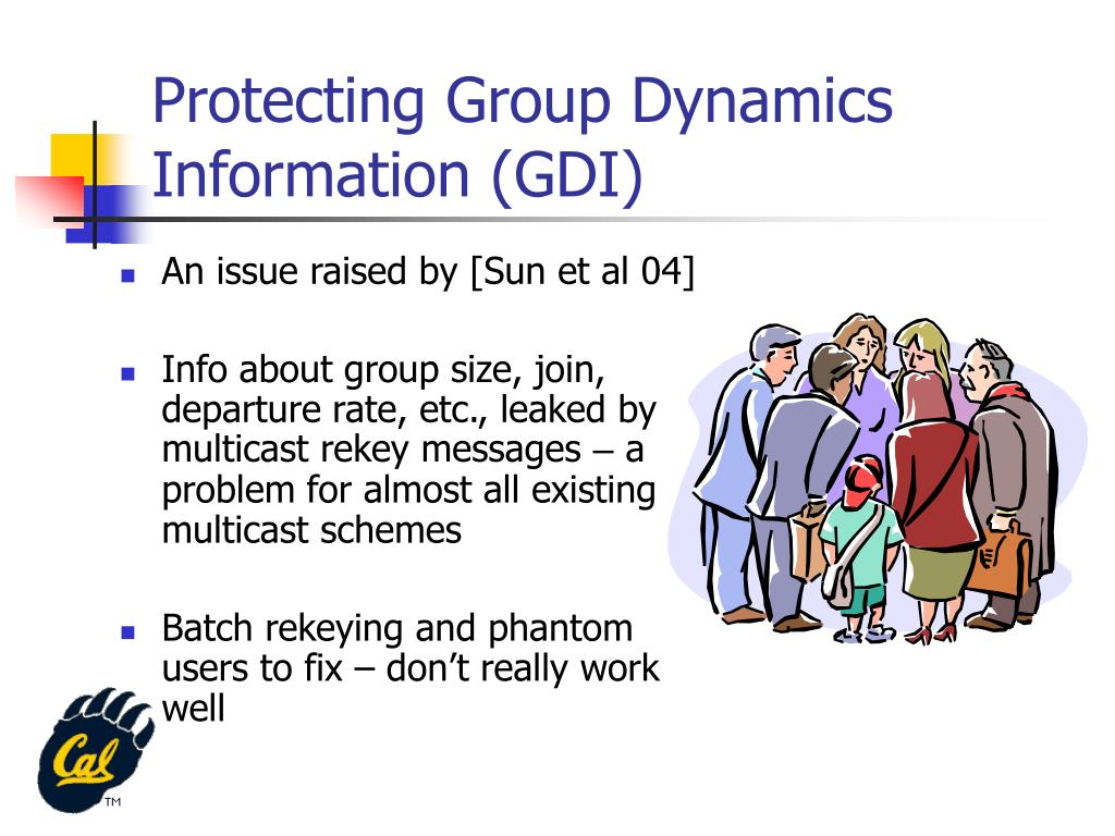 Protecting Group Dynamics Information (GDI)