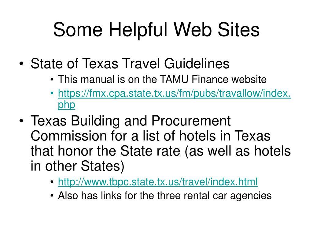 Some Helpful Web Sites