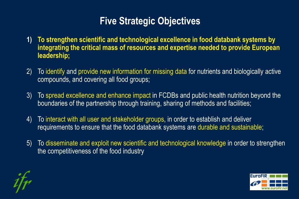 Five Strategic Objectives