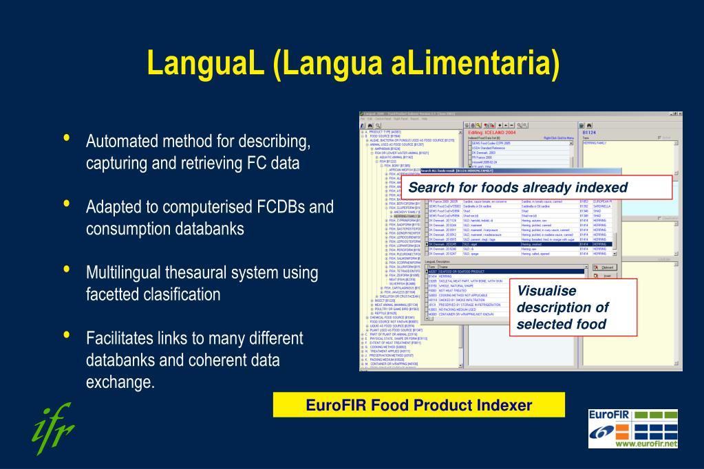 LanguaL (Langua aLimentaria)