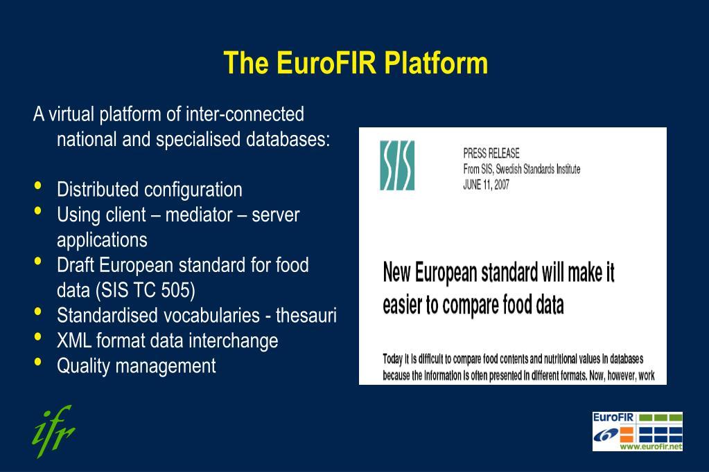 The EuroFIR Platform