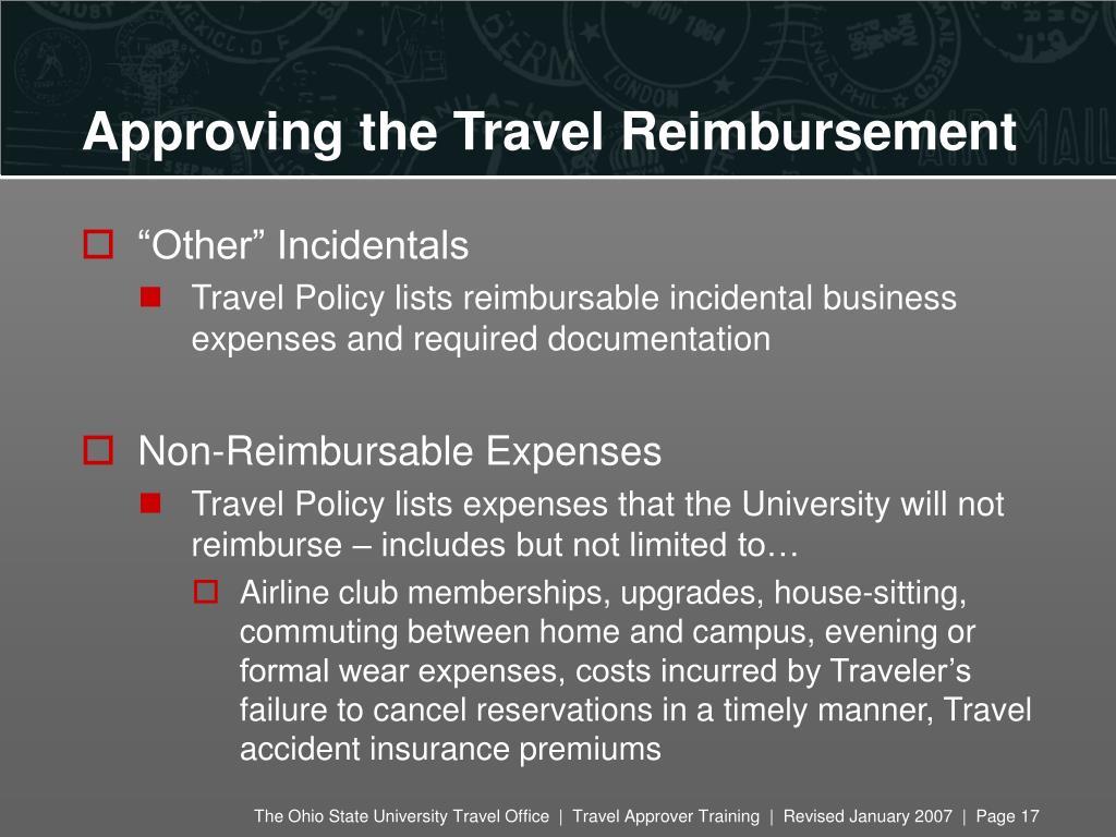 Approving the Travel Reimbursement