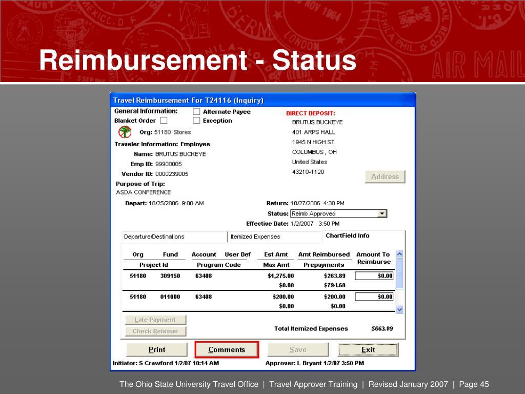 Reimbursement - Status