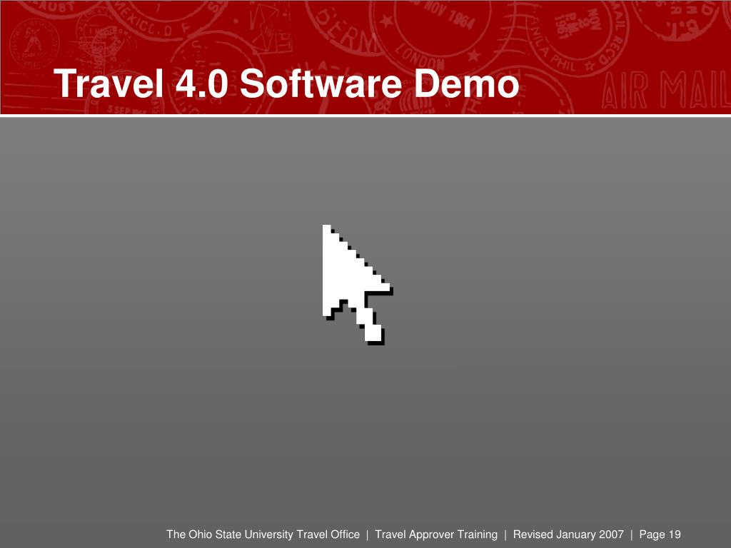 Travel 4.0 Software Demo