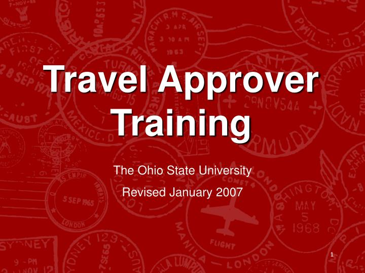 Travel approver training